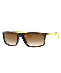 Tortoise & brown gradient sunglasses