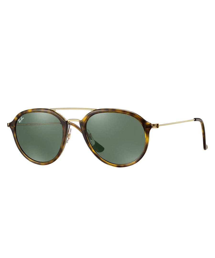 Tortoise gold-tone & green sunglasses Sale - ray-ban