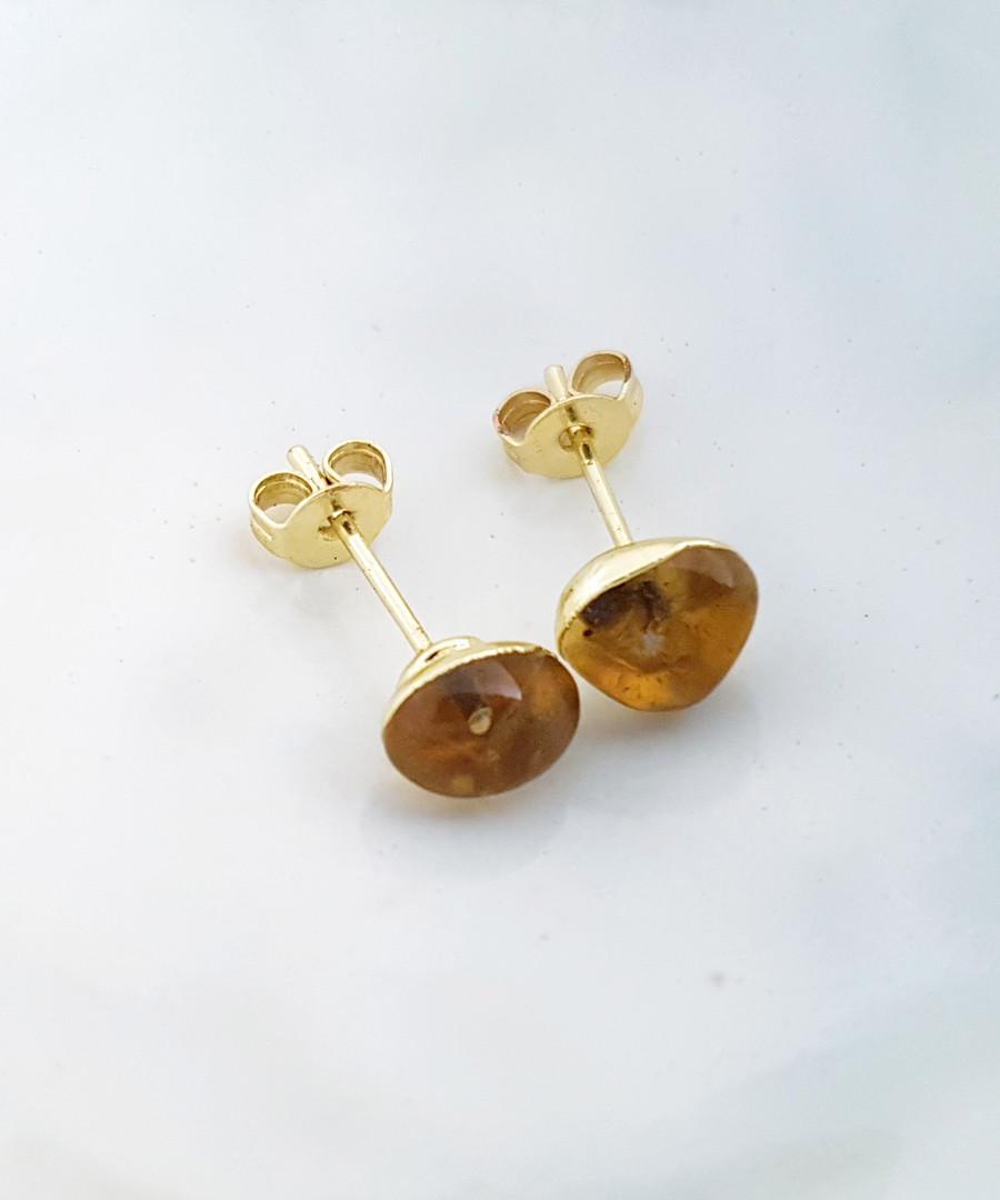 18k gold-plated citrine earrings Sale - fleur envy gaia
