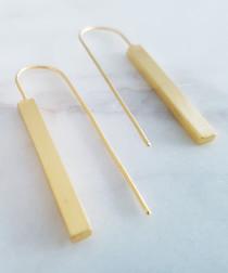 24k Gold-plated rectangle earrings