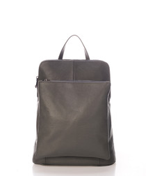 Adriana grey leather backpack
