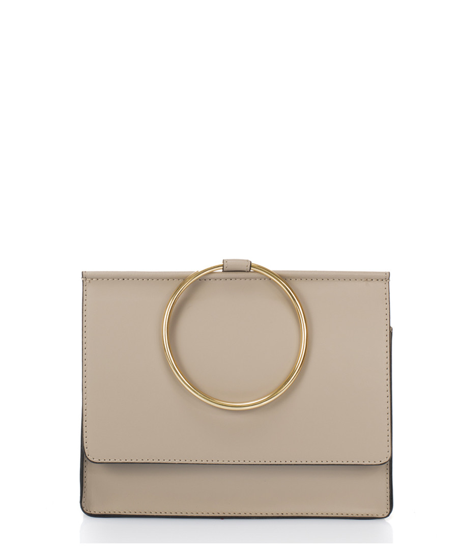 Erin taupe leather round handle shopper Sale - scui studios