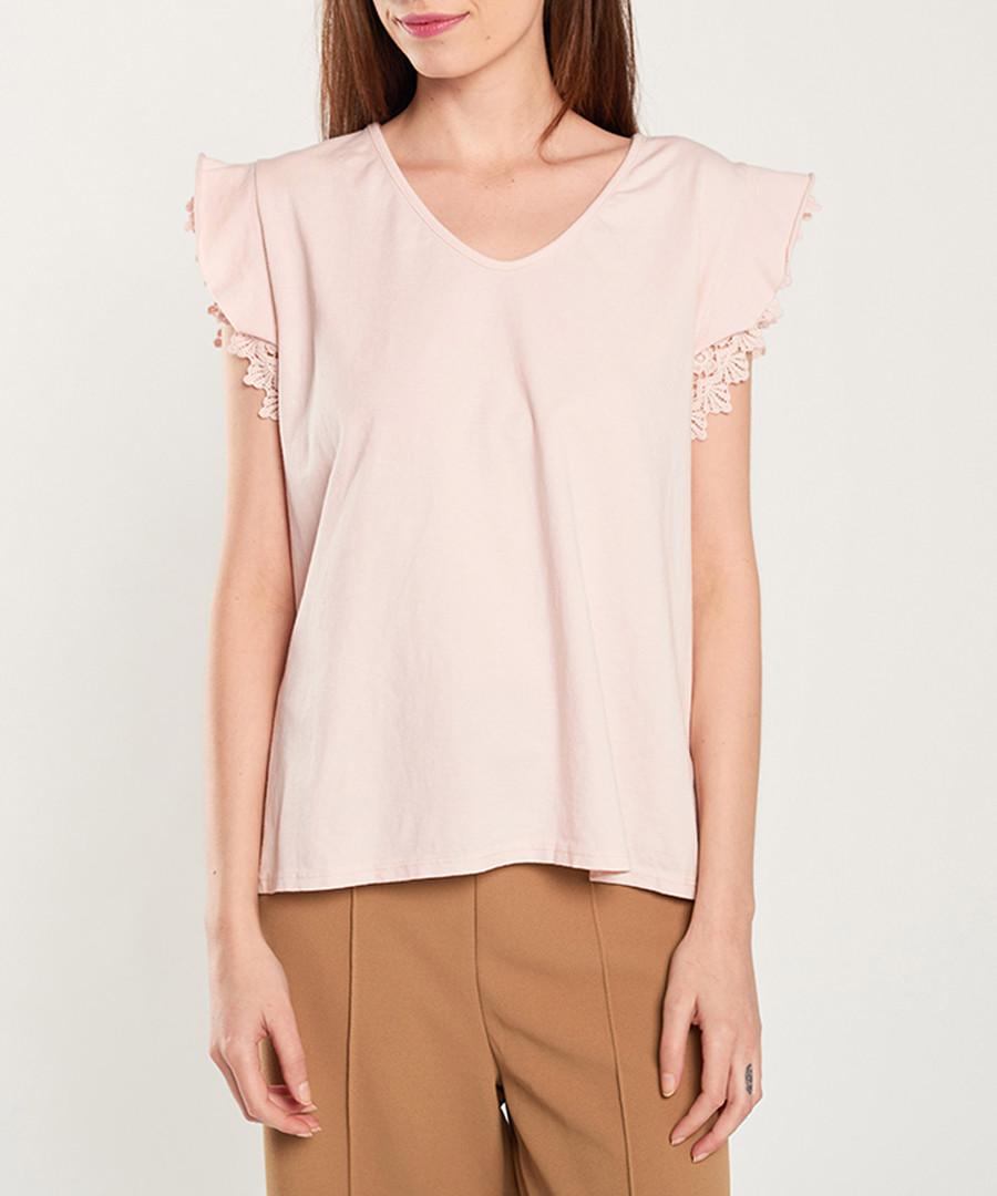 Light pink frill shoulder top Sale - dioxide