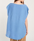 Blue scoop neck loose top Sale - dioxide Sale