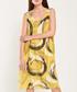 Yellow brush mark printed loose dress Sale - dioxide Sale