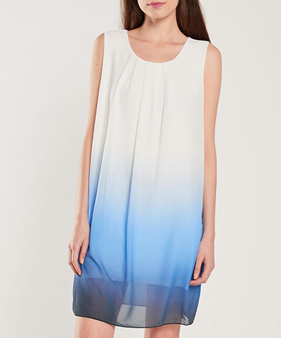 White & blue dip-dye dress Sale - dioxide