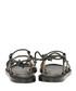 Elma black leather flat sandals Sale - ravel Sale