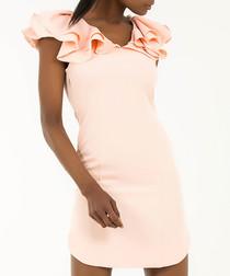 Powder frill mini dress