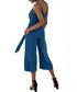 Blue tie-waist crop jumpsuit Sale - zibi london Sale