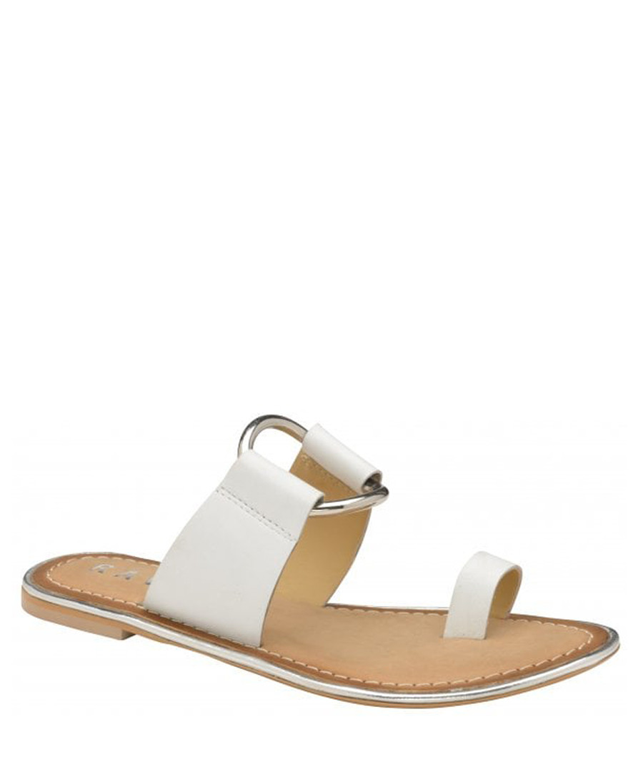 Franklin white leather flat sandals Sale - ravel
