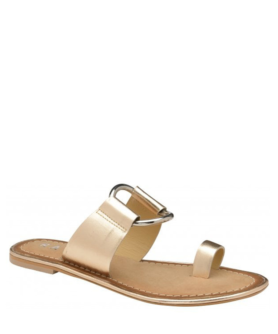 Franklin rose-tone leather flat sandals Sale - ravel