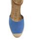 Etna blue leather wedge sandals Sale - ravel Sale