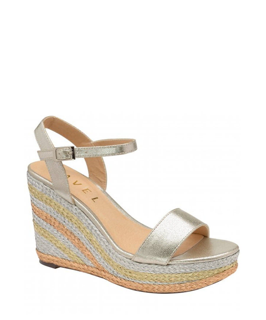 Dixie metallic wedge open-toe sandals Sale - ravel
