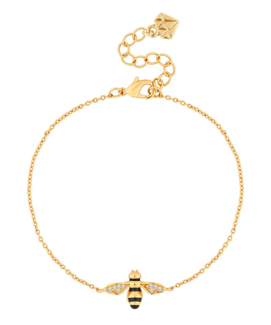 Bee 14k yellow gold-plated bracelet Sale - diamond style