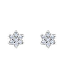 Bloom 14k white gold-plated earrings