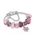 Charm 14k white gold-plate pink bangle Sale - diamond style Sale