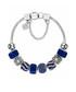 Charm 14k white gold-plated blue bangle Sale - diamond style Sale