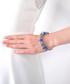 Charm 14k white gold-plated bangle Sale - diamond style Sale