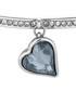Crystal 14k white gold-plated bangle Sale - diamond style Sale