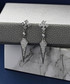 Drop 14k white gold-plated earrings Sale - diamond style Sale