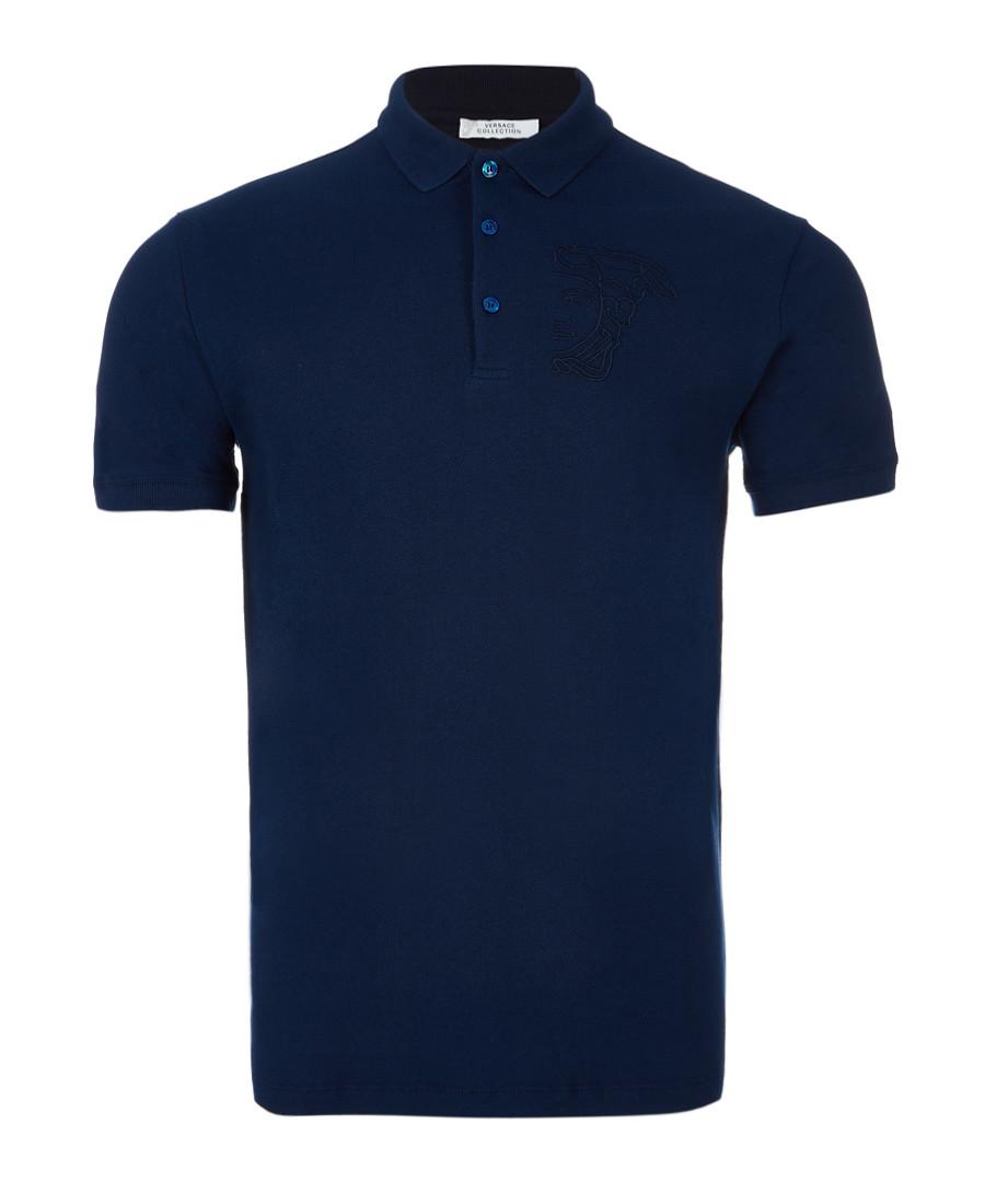 Indigo polo shirt Sale - versace collection