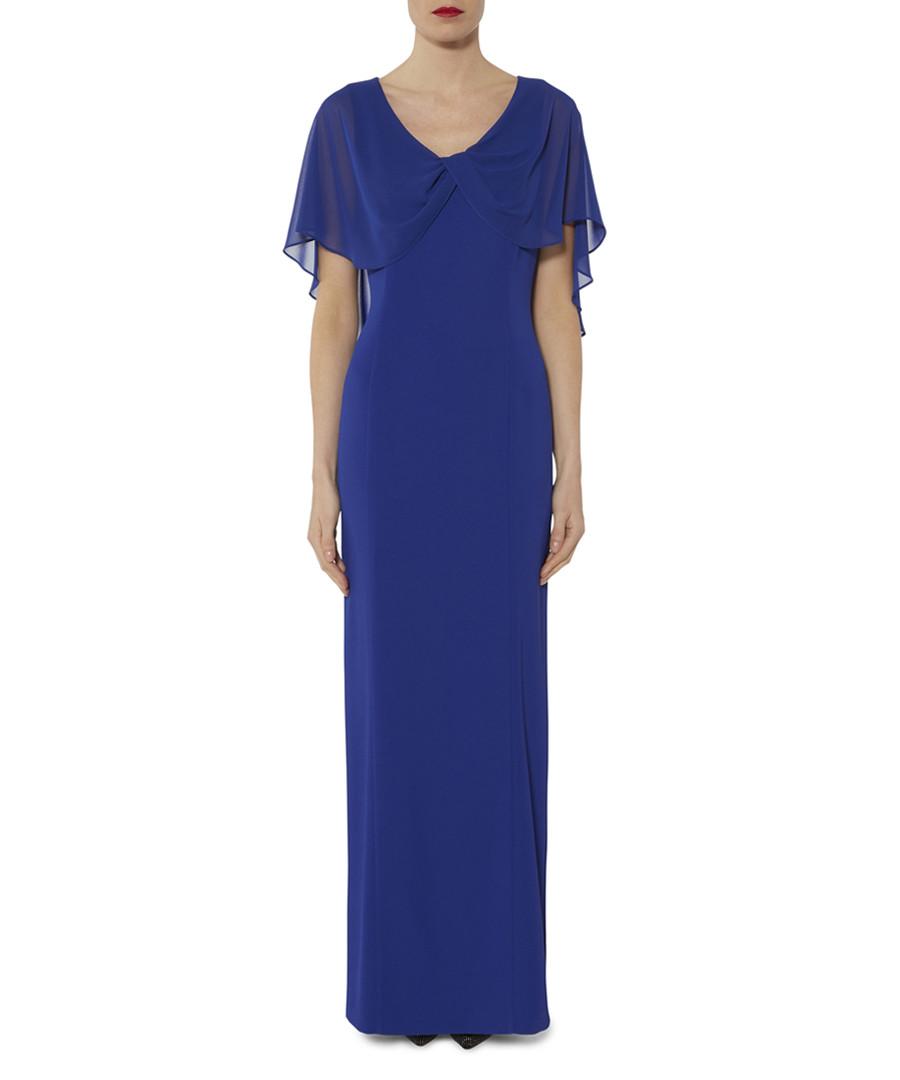 Tayla sapphire chiffon sleeve maxi dress Sale - gina bacconi