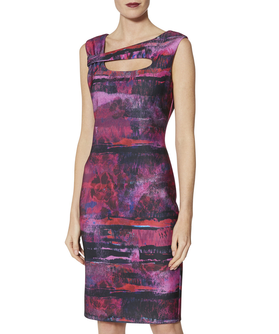 Mischa abstract stripe cut-out dress Sale - gina bacconi