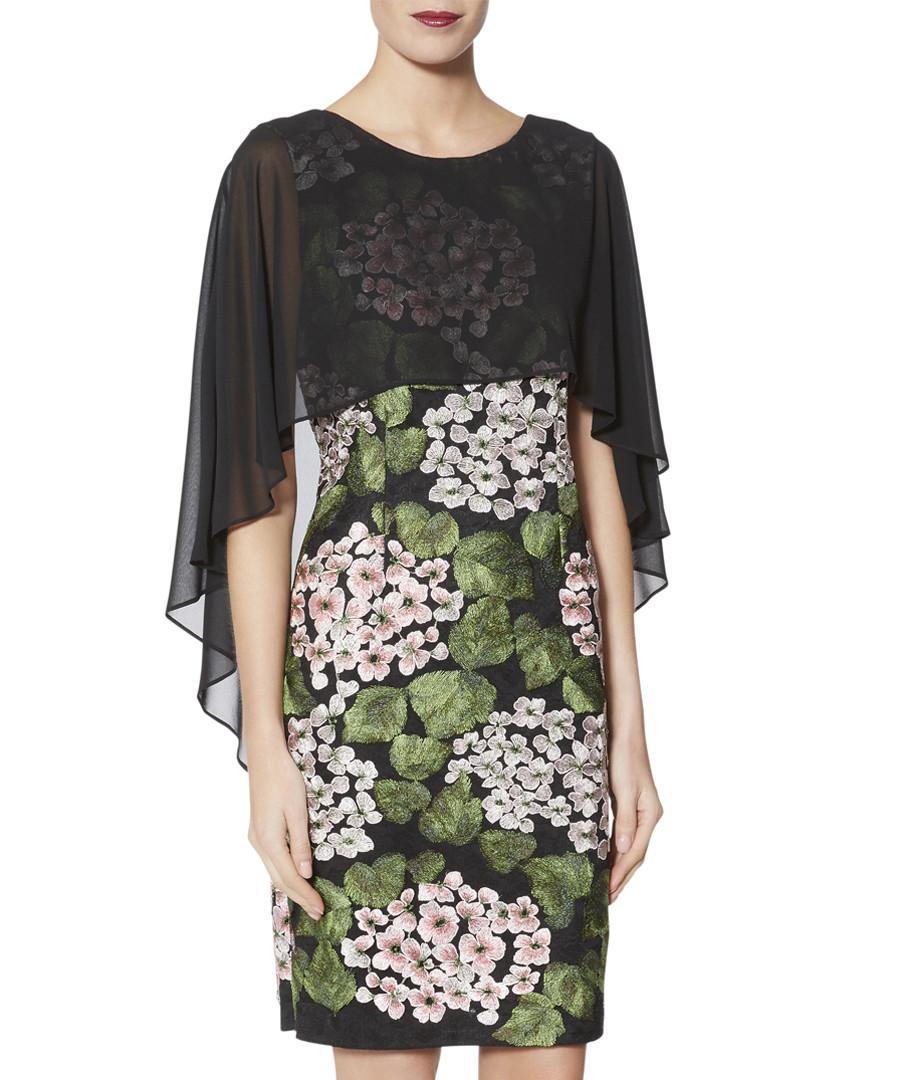 Blair print chiffon cape sleeve dress Sale - gina bacconi
