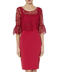 Rya rose red overlay dress