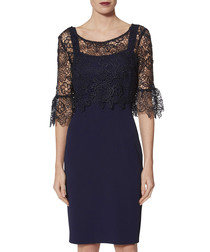 Rya spring navy overlay dress