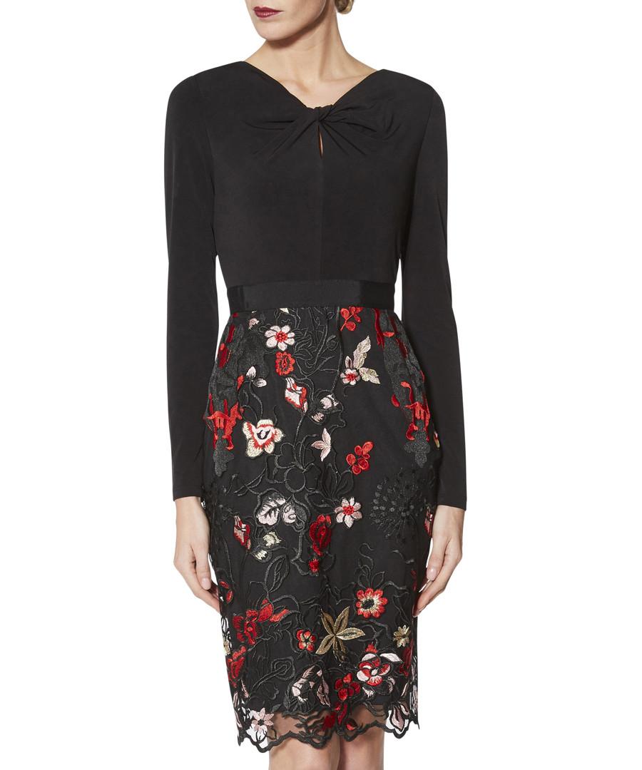 Iga black & red long sleeve dress Sale - gina bacconi