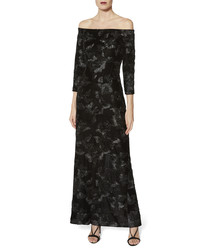 Karlotta black velvet maxi dress