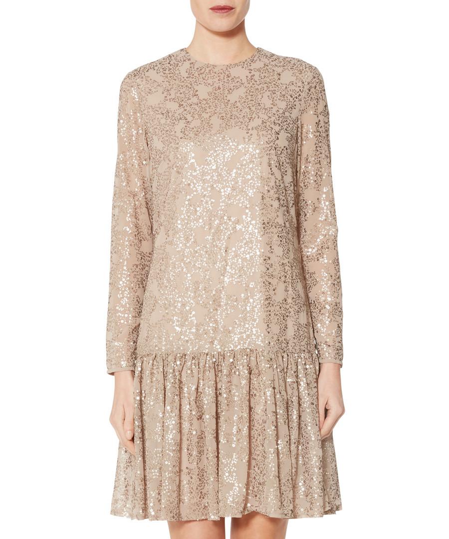 Jettie beige sequin drop waist dress Sale - gina bacconi