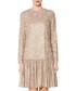 Jettie beige sequin drop waist dress Sale - gina bacconi Sale