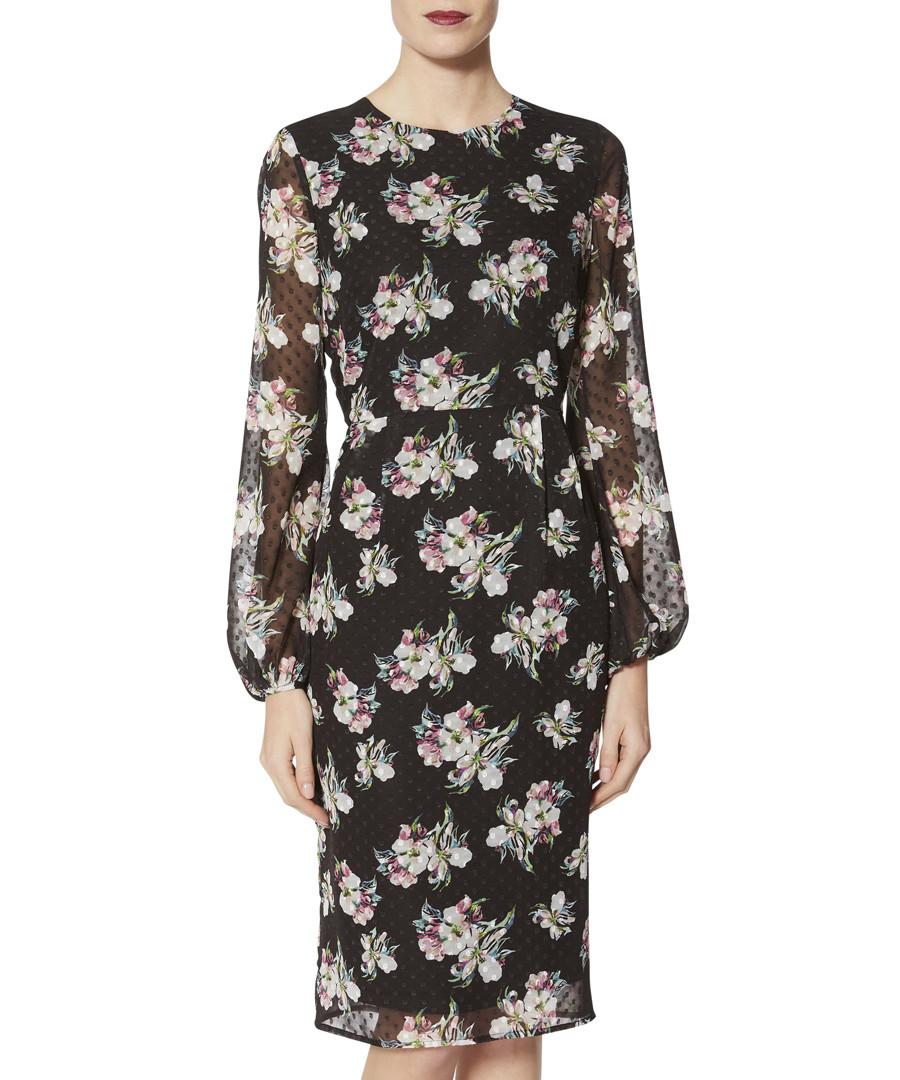 Malwina floral print chiffon dress Sale - gina bacconi