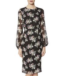 Malwina floral print chiffon dress