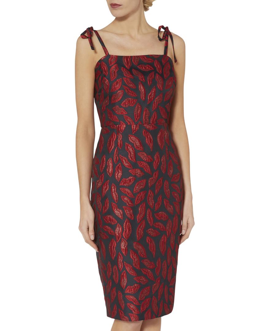 Alissa red jacquard tie-strap dress Sale - gina bacconi
