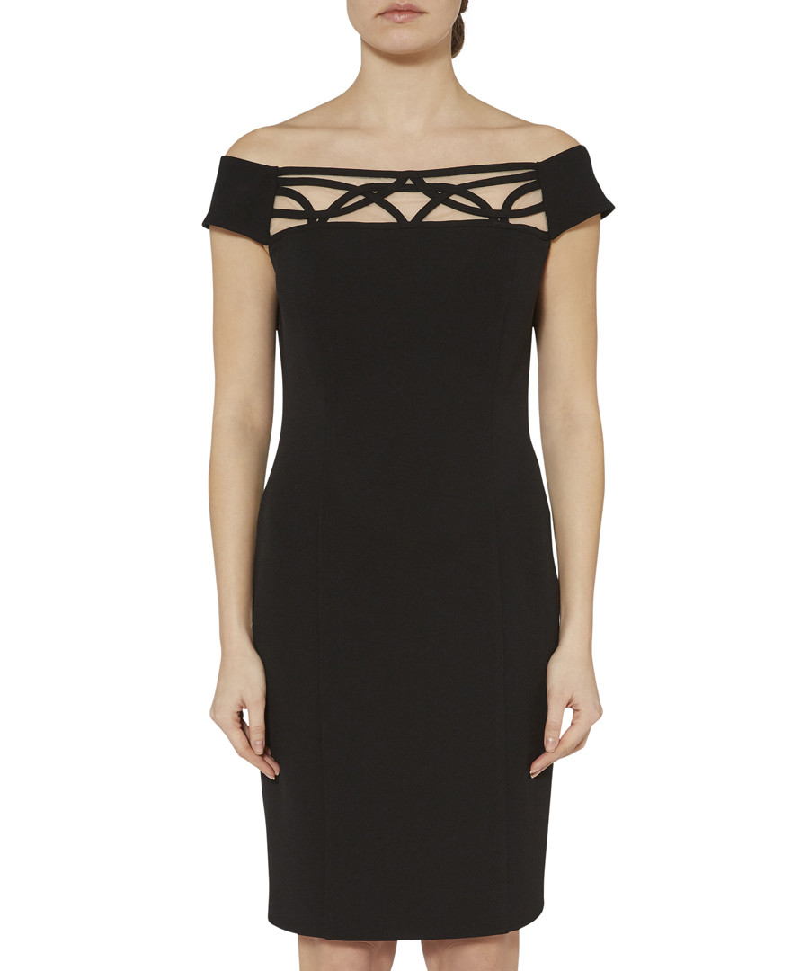 Ranita black off-the-shoulder dress Sale - gina bacconi