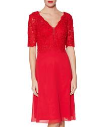Fantasia red lace bodice dress