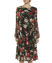 Esmeralda floral print chiffon dress