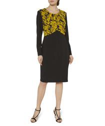 Meena yellow print dress
