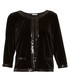 Aria black velvet sequin trim jacket Sale - gina bacconi Sale