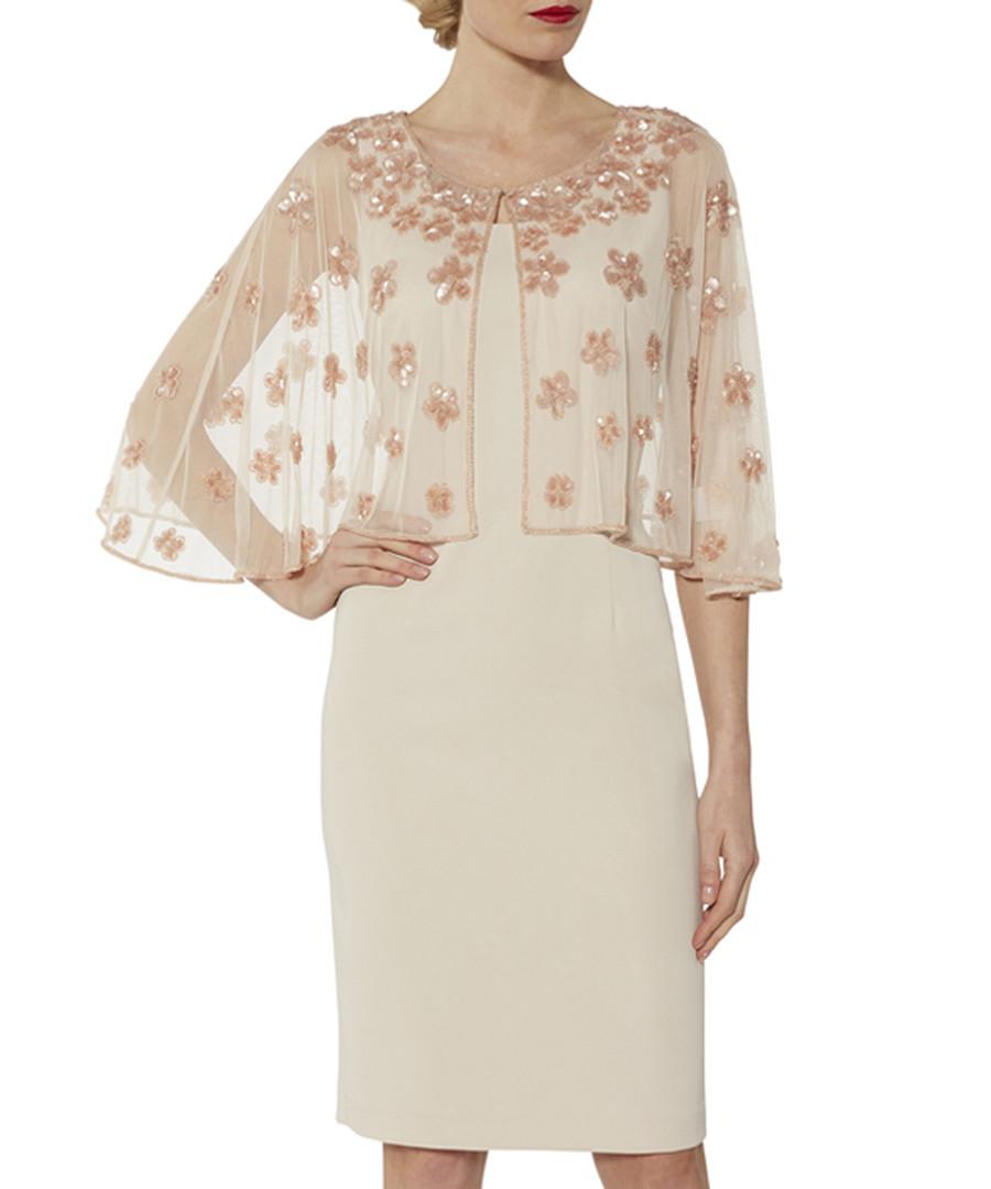 Ledora antique rose sheer cape dress Sale - gina bacconi