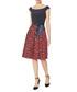 Ayla navy & red lip print dress Sale - gina bacconi Sale