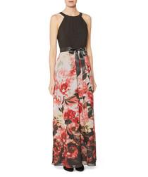 Elia floral chiffon maxi dress