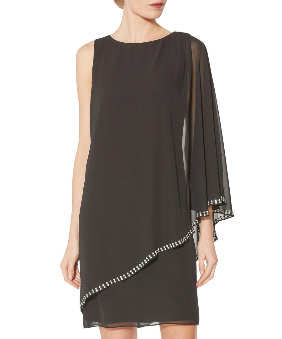 Ursa black beaded chiffon dress Sale - gina bacconi