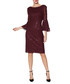 Amina wine sequin bell sleeve dress Sale - gina bacconi Sale