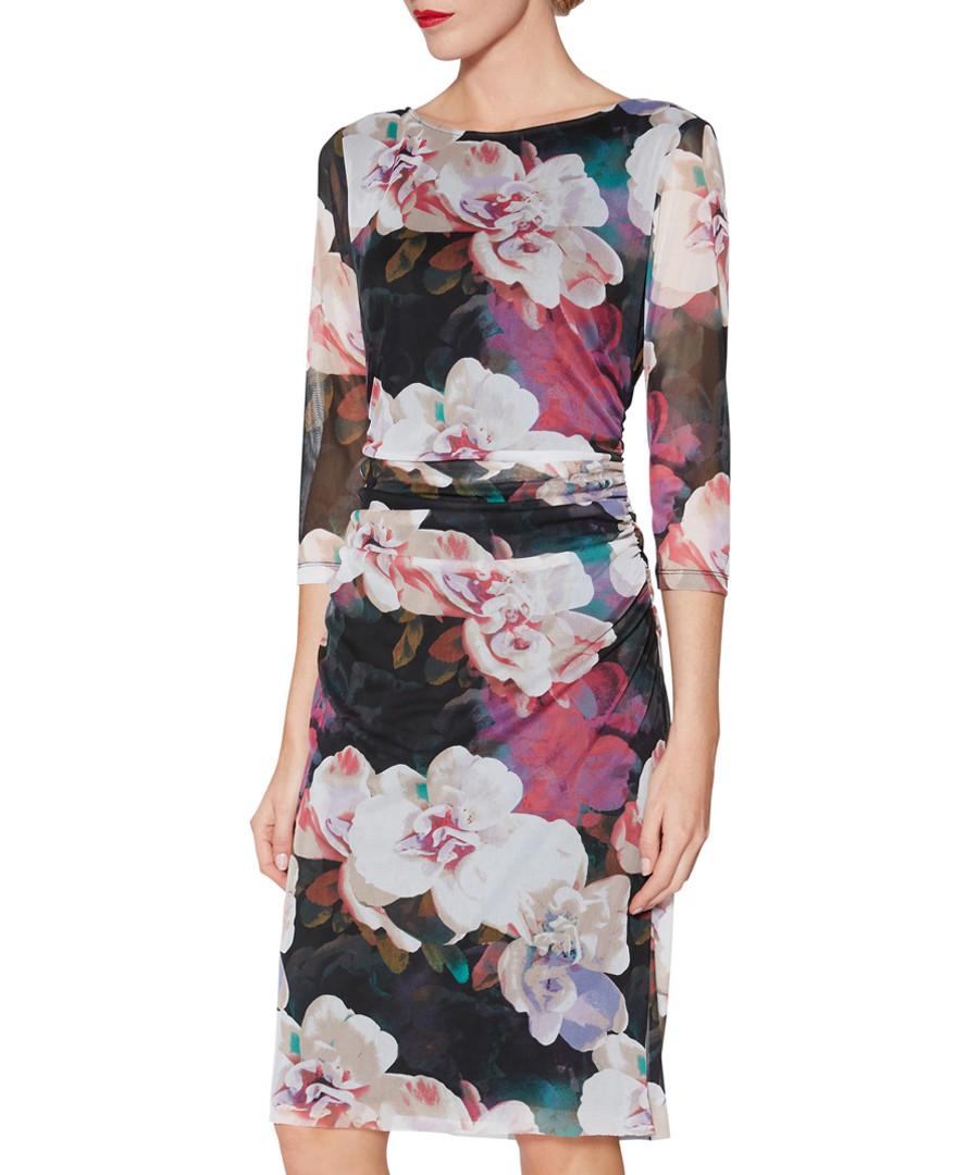Remi floral print 3/4 sleeve dress Sale - gina bacconi