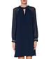 Israella navy long sleeve chiffon dress Sale - gina bacconi Sale