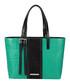 The Stripe Dean green & black shopper Sale - Amanda Wakeley Sale